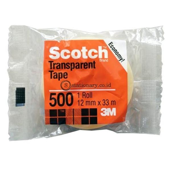 3M Lakban Bening Kecil 500 Economy Scotch Tape (Isolasi) 12Mm X 33M Office Stationery