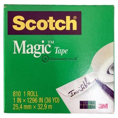 3M Scotch Magic Tape 810 (Isolasi) 1 X 36Y Office Stationery