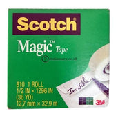 3M Scotch Magic Tape 810 (Isolasi) 1/2 X 36Y Office Stationery