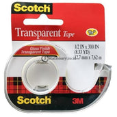 3M Scotch Transparent Tape 144-Ss 1/2 X 300 Office Stationery