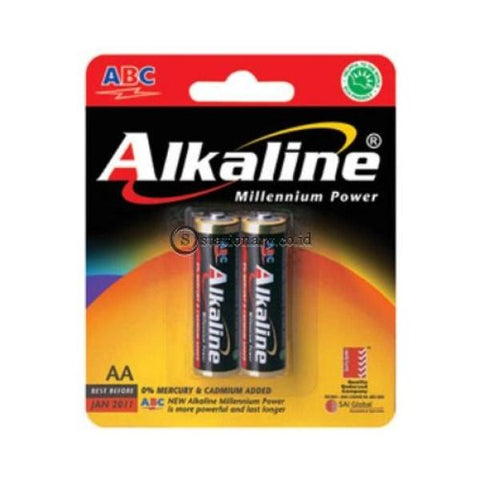 Abc Baterai Alkaline Lr06 Aa (2Pcs) Office Stationery