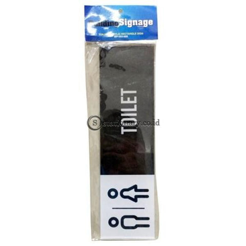 Acrylic Rectangle Sign Toilet 28 X 8 Cm Office Stationery Digital & Display