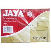 Amplop Coklat 80 Gram Jaya Folio Dengan Seal Office Stationery