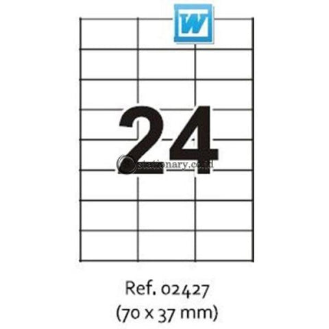 Apli Label Basic 70 X 37Mm 120 Unit #ra02427 Office Stationery