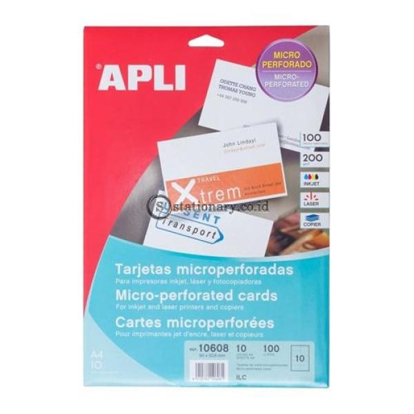 Apli Label Business Card 90 X 50.8Mm 100 Unit #10608 Office Stationery