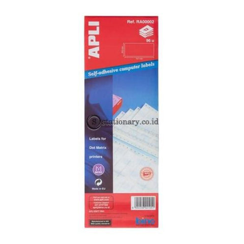 Apli Label Continuous Form 73 7 X 36Mm 96 Unit #ra00002 Office Stationery