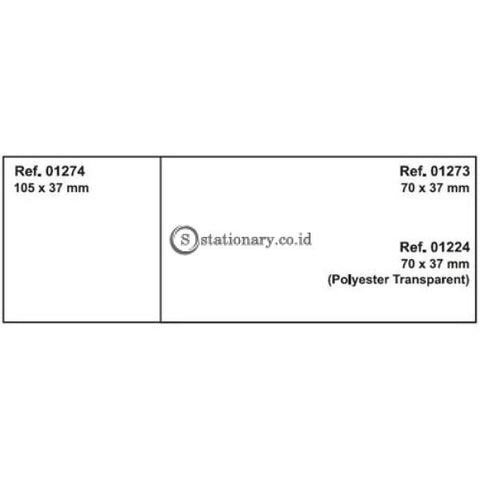 Apli Label Polyester Transparent 70 X 37Mm 120 Unit #ra01224 Office Stationery