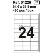 Apli Label Polyester White 64 6 X 33 8Mm 120 Unit #ra01226 Office Stationery
