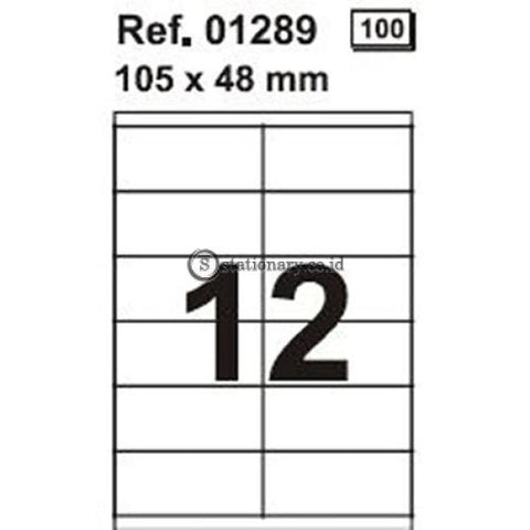 Apli Label White Paper 105 X 48Mm 1200 Unit #01289 Office Stationery