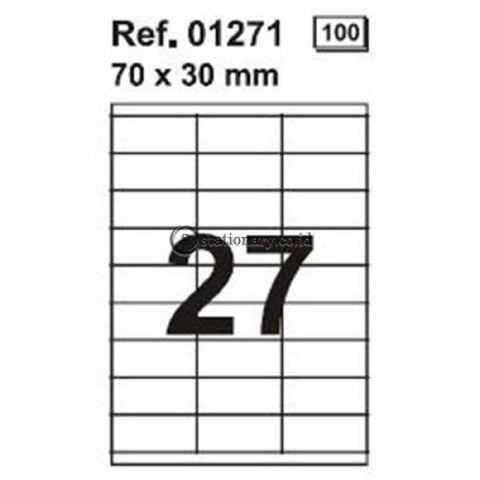 Apli Label White Paper 70 X 30Mm 2700 Unit #01271 Office Stationery