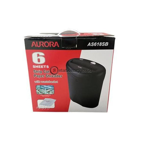 Aurora Penghancur Kertas Paper Shredder As618Sb Office Stationery