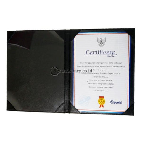 Bambi Certificate Holder A4 Black #7100 Office Stationery