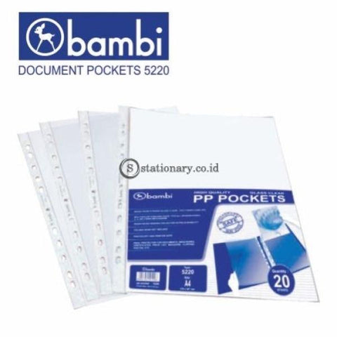 Bambi Document Pocket A4 5220 (Isi 20 Lbr) Office Stationery