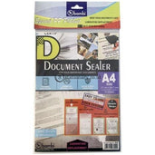 Bambi Document Sealer Transparant Pocket 0.10Mm (10Pcs) A4 #5036 Office Stationery