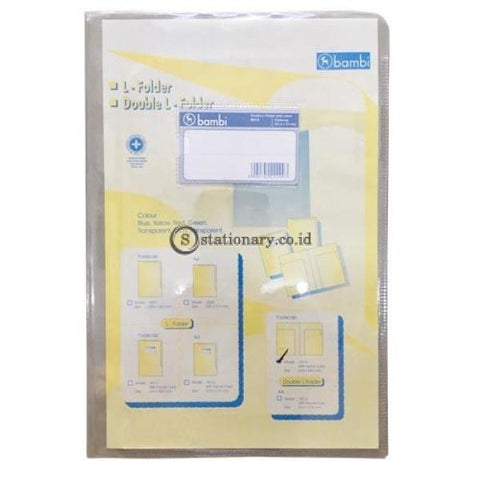 Bambi Double L Folder With Label Folio 5013 Office Stationery