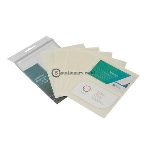 Bantex Adhesive Business Card Pocket (10 Pcs/pack) #8876 Office Stationery