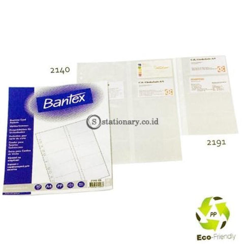 Bantex Business Card Pocket A4 In Pack Of 10 Pcs 20 Name Card #2140 Office Stationery