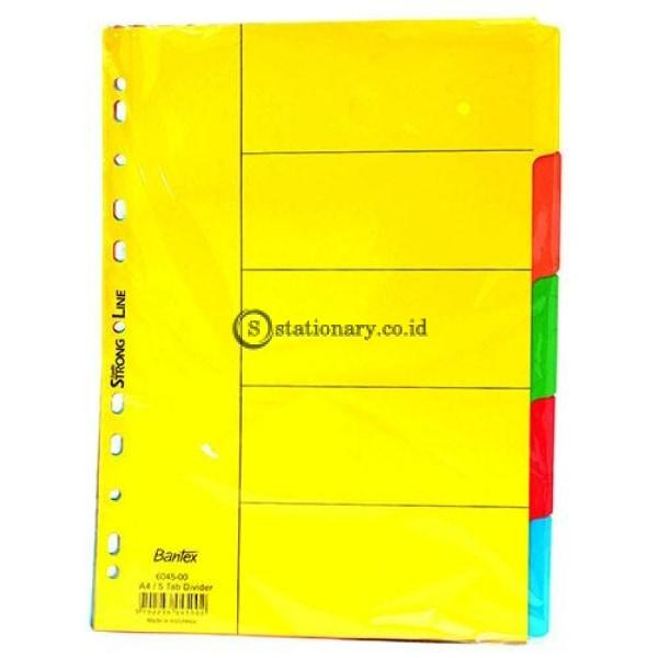 Bantex Cardboard Divider A4 (5 Pages) 6045 Office Stationery