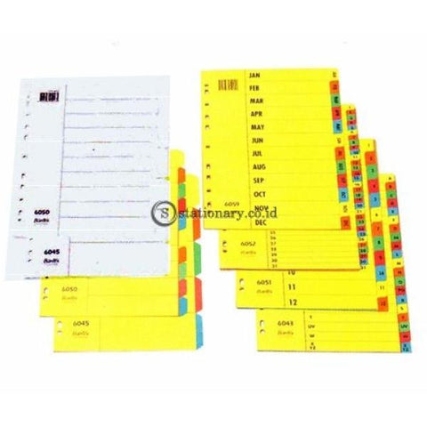 Bantex Cardboard Divider & Indexes A5 (5 pages) #8610 00