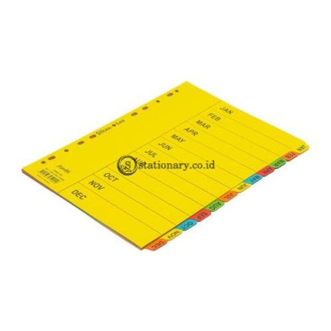Bantex Cardboard Divider & Indexes A4 Jan-Dec (12 Pages) #6059 Office Stationery