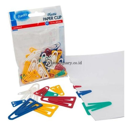Bantex Colour Paper Clip 80 Pcs #8850 00 Office Stationery