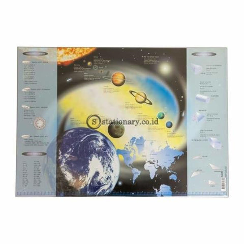 Bantex Desk Pad for Childern Planets Motives 33x46cm Grey#4162 05