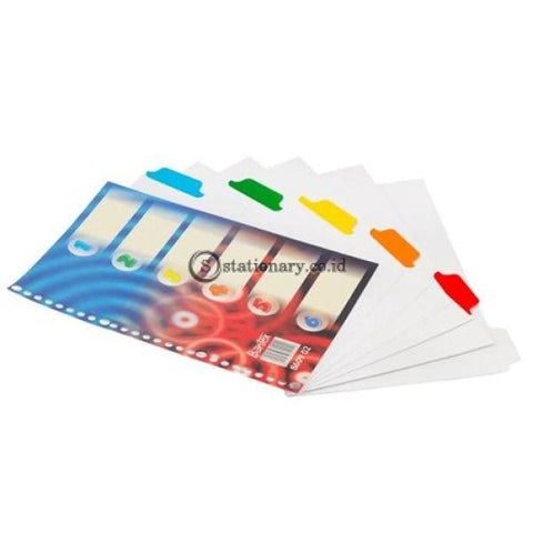 Bantex Divider 26 Holes B5 Blue Red Drops #8609 02 Office Stationery