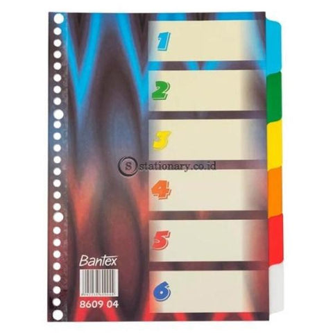 Bantex Divider 26 Holes B5 Blue Red Lines #8609 04 Office Stationery