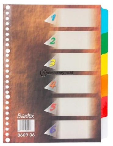 Bantex Divider 26 Holes B5 Dark Brown #8609 06 Office Stationery