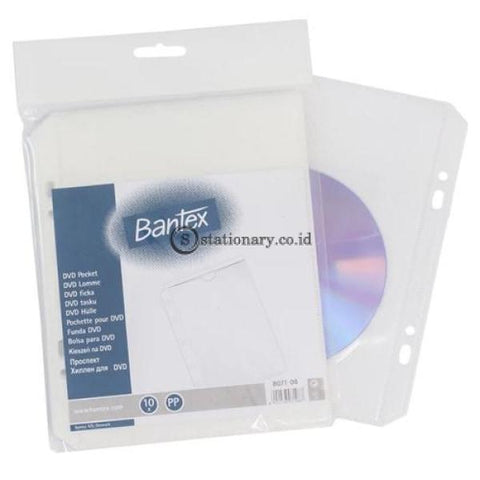 Bantex Dvd Pocket 10 Sheets 2 Holes #8071 08 Office Stationery