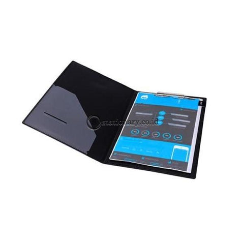 Bantex Exclusive Clipboard Folio Black #8816 10 Office Stationery