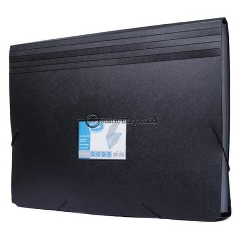 Bantex Expanding File Folio #3601 Black - 10 Office Stationery