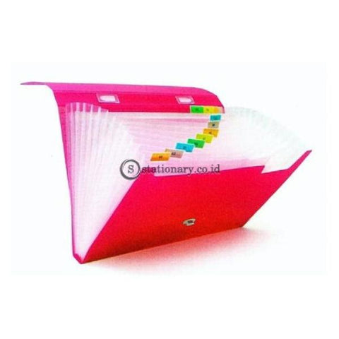 Bantex Expanding File With Handle Folio #3603 Pink - 19 Office Stationery Promosi