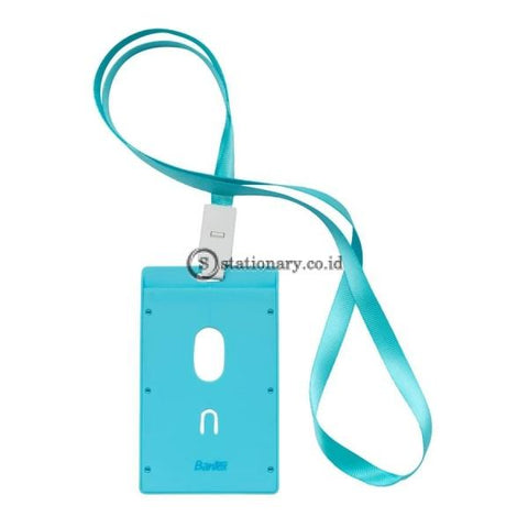 Bantex ID Card Holder Larnyard 54x90mm Portarit Sky Blue #8865 23