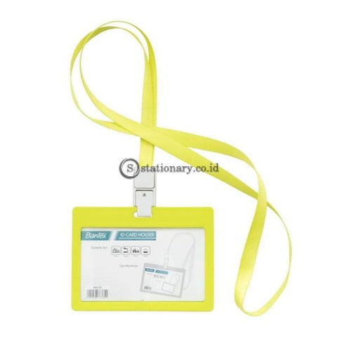 Bantex ID Card Holder Larnyard 90x54mm Landscape Lime #8863 65