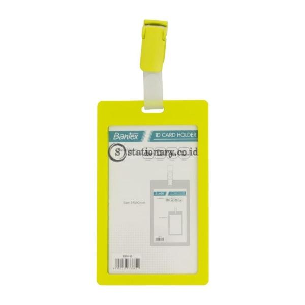 Bantex ID Card Holder With Clip 54x90mm Potrait Lime #8866 65