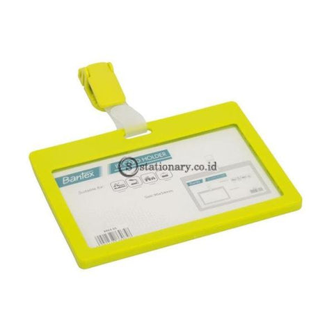Bantex ID Card Holder With Clip Landscape Lime #8864 65
