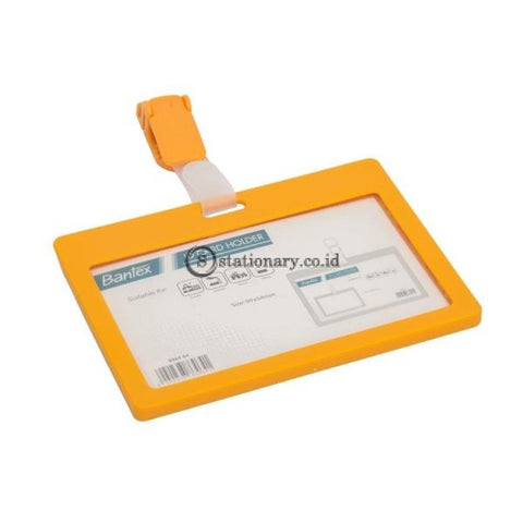 Bantex ID Card Holder With Clip Landscape Mango #8864 64