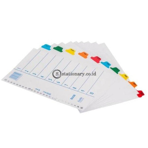 Bantex Index (1-10) 26 Holes For Multiring Binder B5 #8608 00 Office Stationery