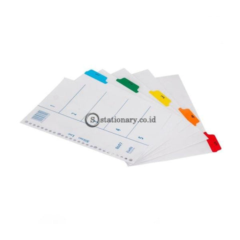 Bantex Index (1-5) 20 Holes For Multiring Binder B5 #8607 00