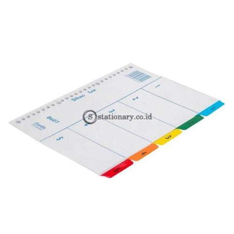 Bantex Index (1-5) 20 Holes For Multiring Binder B5 #8607 00 Office Stationery