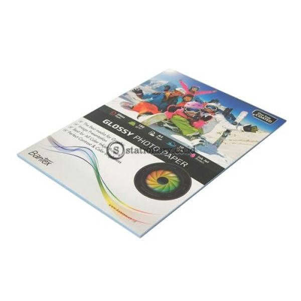 Bantex Ink Jet Photo Paper A4 Glossy (10 Sheets) 180Gr #8001 Office Stationery