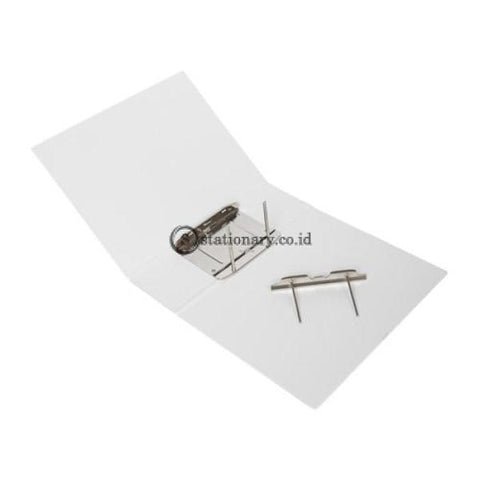 Bantex Insert Post Pipe Binder 2 Ring 6Cm A4 White #1361 07 Office Stationery