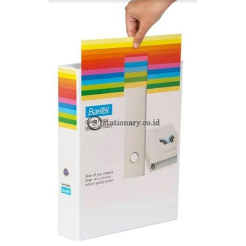 Bantex Insert Ring Binder 2 40Mm Folio White #8543 07 Office Stationery
