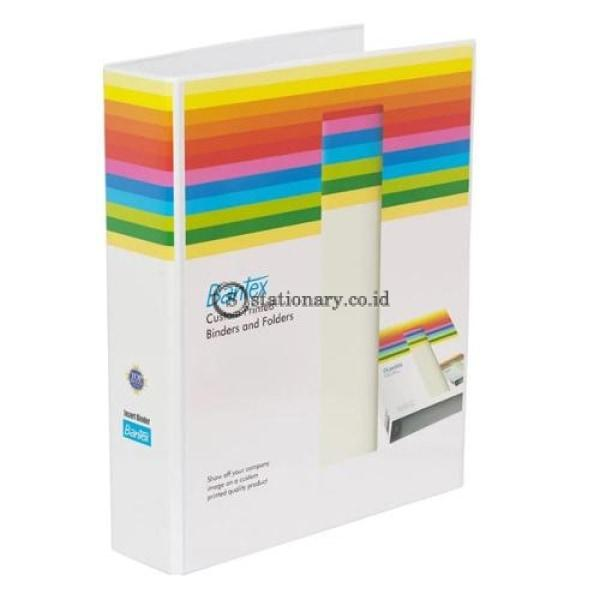 Bantex Insert Ring Binder 2 52Mm Folio White #8553 07 Office Stationery