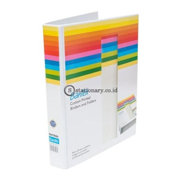 Bantex Insert Ring Binder 3 25Mm A4 White #8622 07 Office Stationery