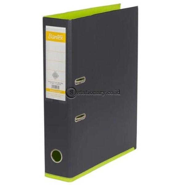 Bantex Lever Arch File Ordner Plastic Two Tone 7Cm Folio Anthracite Grey-Lime #1465V2565 Office