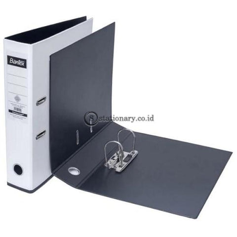 Bantex Lever Arch File Ordner Two Tone Folio 7Cm White Black #1465V0710 Office Stationery