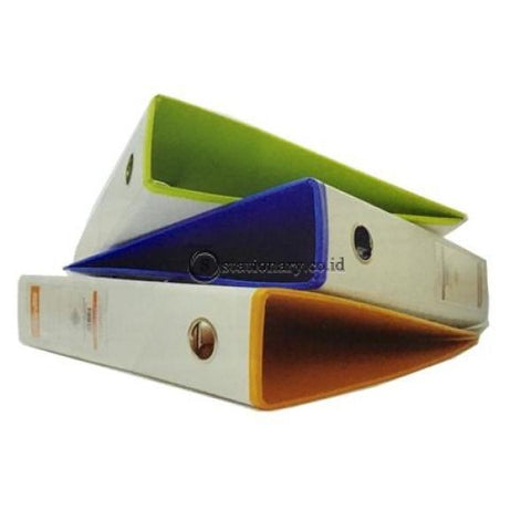 Bantex Lever Arch File Ordner Two Tone Folio 7Cm White Blueberry #1465V0762 Office Stationery