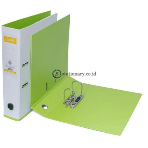 Bantex Lever Arch File Ordner Two Tone Folio 7Cm White Lime #1465V0765 Office Stationery